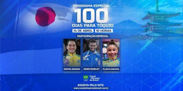 Canal Olímpico do Brasil exibe programa especial de 100 dias para Tóquio e tem mês recheado de eventos ao vivo