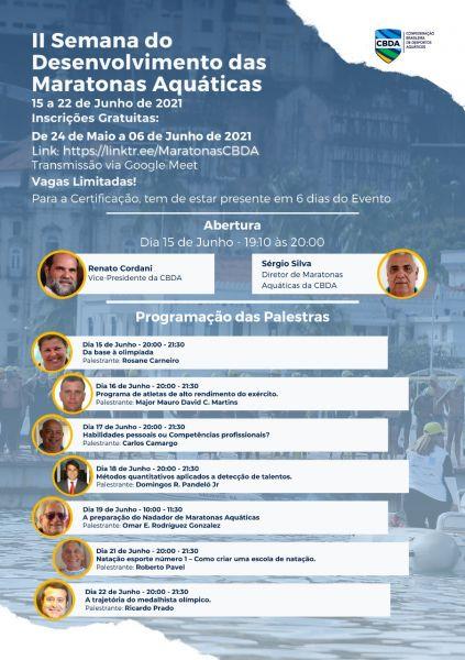 Inscrições abertas para II Semana de Desenvolvimento das Maratonas Aquáticas