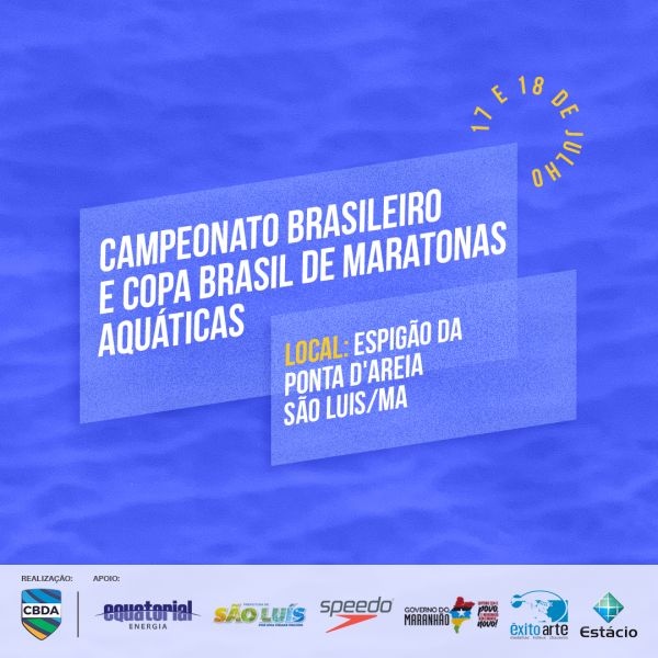 São Luís do Maranhão recebe I Etapa do Campeonato Brasileiro e Copa Brasil de Maratonas Aquáticas