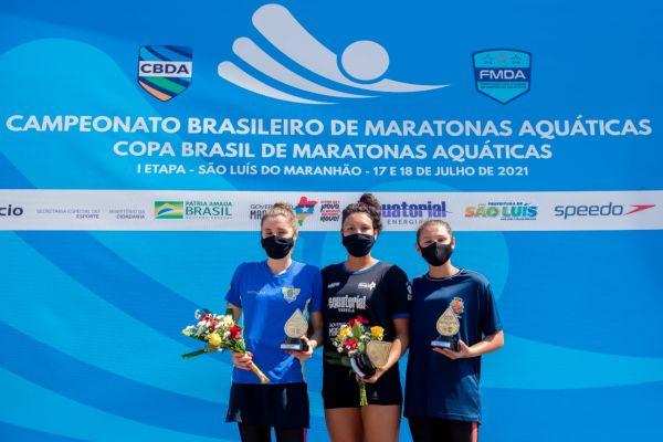 Carol Hertel e Alexandre Finco são campeões da prova de 7,5 km do Campeonato Brasileiro de Maratonas