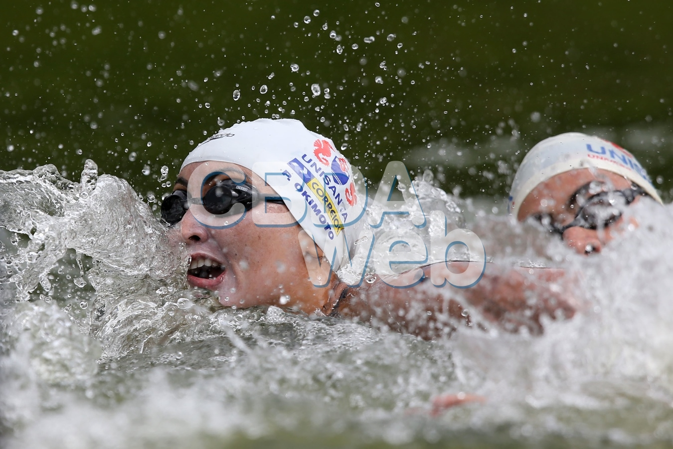 Poliana Okimoto. 54º Trofeu Maria Lenk de Maratonas Aquaticas na raia Olimpica da USP. 26 de abril de 2014, Sao Paulo, SP, Brasil. Foto: Satiro Sodre/SSPress