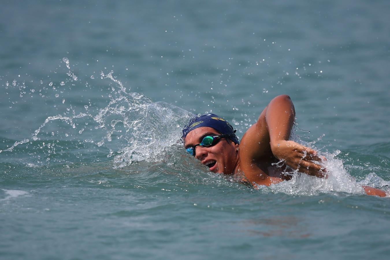 Ana Marcela. Treino preparatorio para Copa do Mundo de Maratonas Aquaticas, etapa Travessia de Hong Kong na Repulse Bay . 17 de Outubro de 2014, Hong Kong. Foto: Satiro Sodre/SSPress.