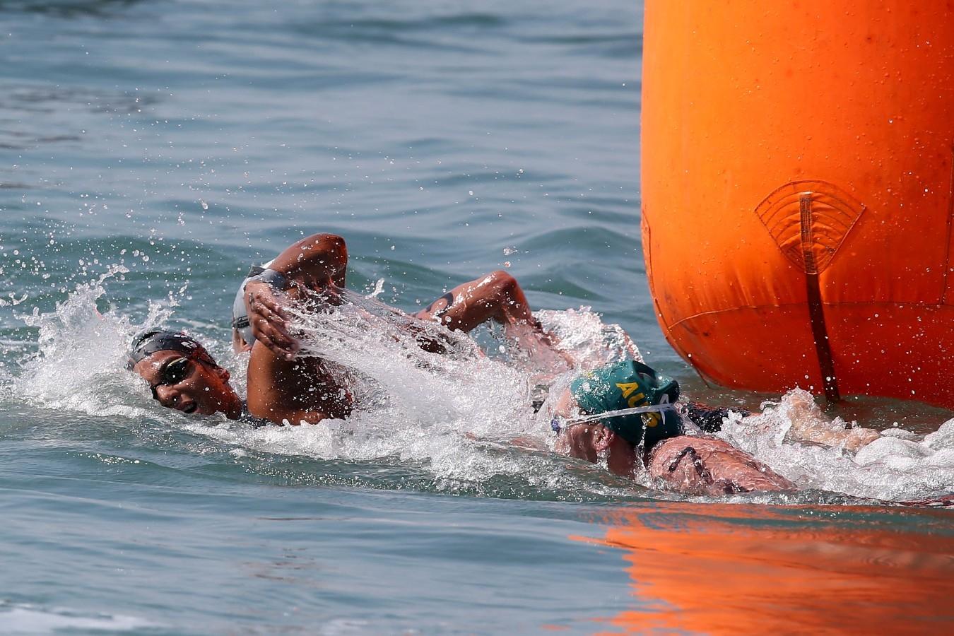 Ana Marcela. Copa do Mundo de Maratonas Aquaticas, etapa Travessia de Hong Kong na Repulse Bay . 18 de Outubro de 2014, Hong Kong. Foto: Satiro Sodre/SSPress.
