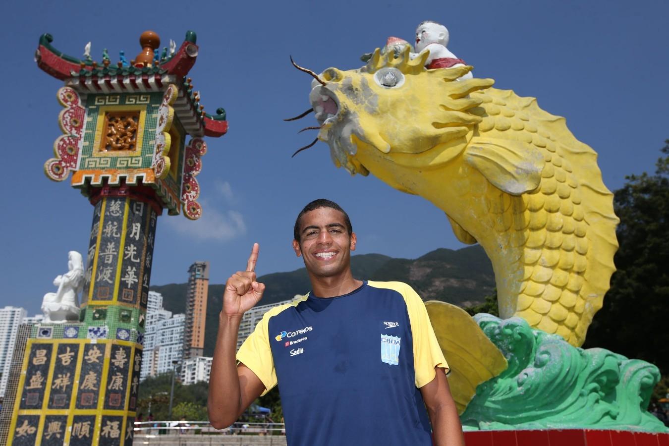 Allan do Carmo. Copa do Mundo de Maratonas Aquaticas, etapa Travessia de Hong Kong na Repulse Bay . 18 de Outubro de 2014, Hong Kong. Foto: Satiro Sodre/SSPress.