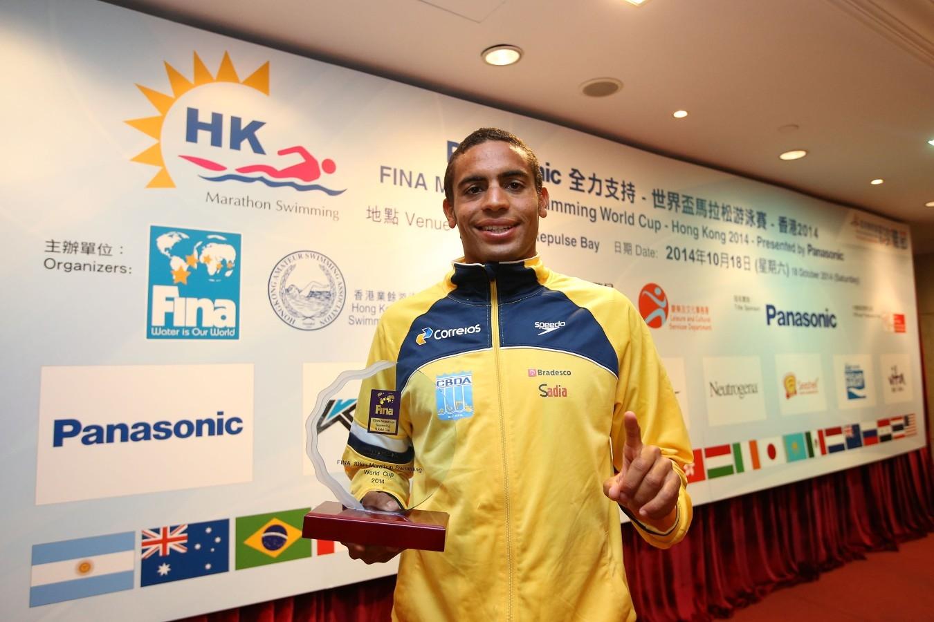 Allan do Carmo. Copa do Mundo de Maratonas Aquaticas, etapa Travessia de Hong Kong na Repulse Bay. 18 de Outubro de 2014, Hong Kong. Foto: Satiro Sodre/SSPress.