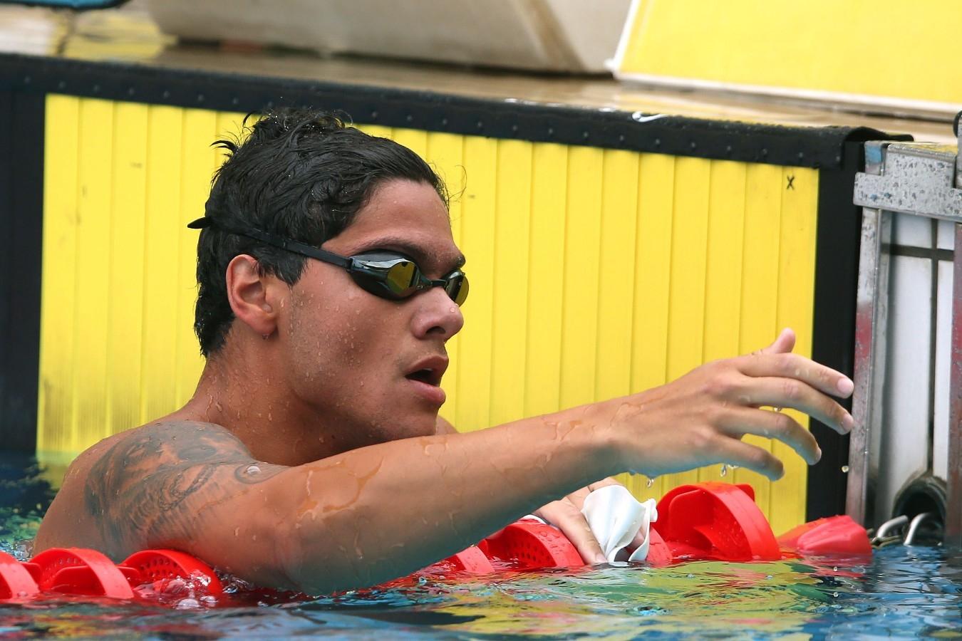 Felipe Ribeiro. Trofeu Maria Lenk. Parque Aquatico Maria Lenk. 04 de Maio de 2017, Rio de Janeiro, RJ, Brasil. Foto: Satiro Sodré/SSPress/CBDA