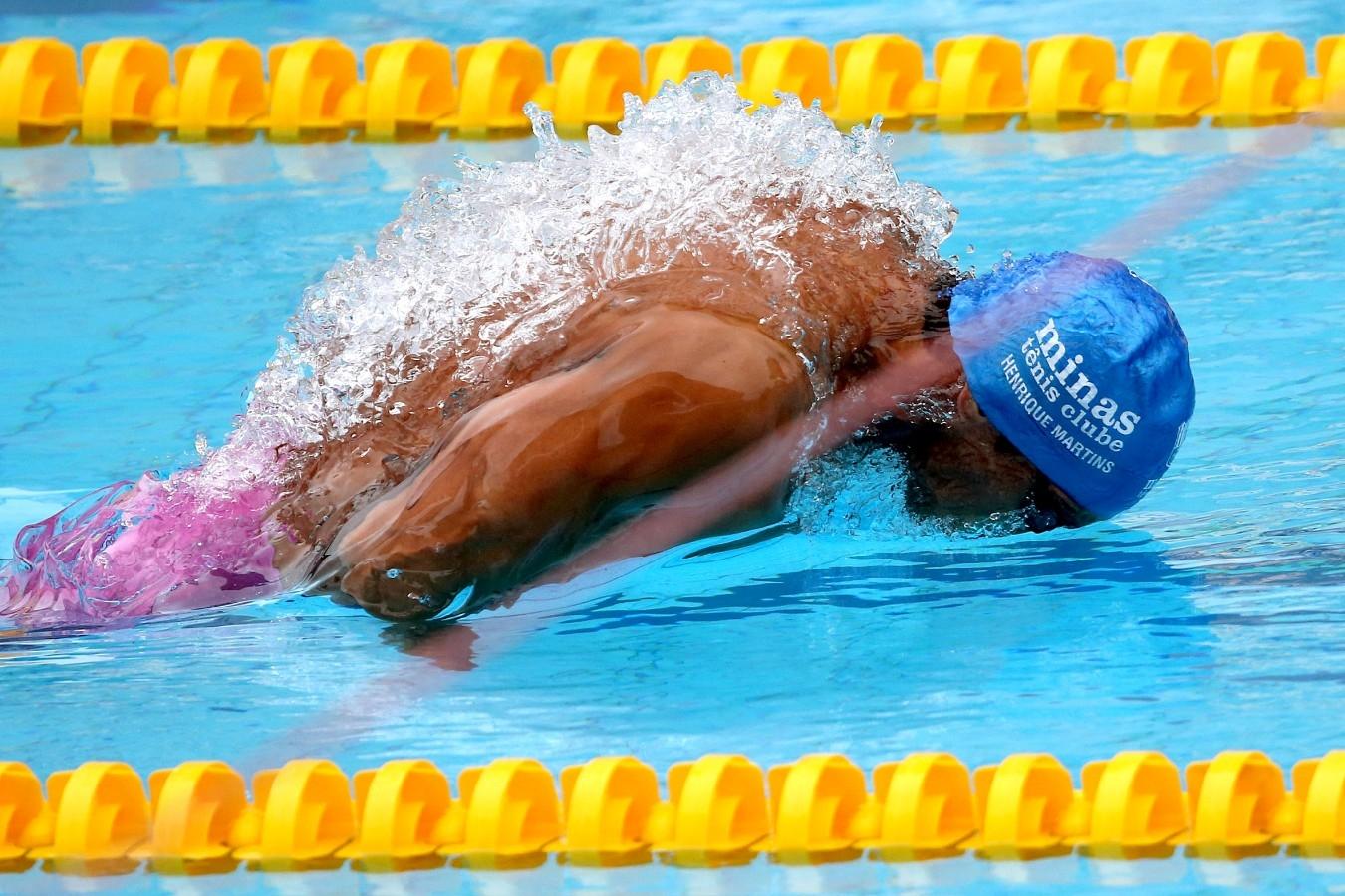 Henrique Martins. Trofeu Maria Lenk. Parque Aquatico Maria Lenk. 05 de Maio de 2017, Rio de Janeiro, RJ, Brasil. Foto: Satiro Sodré/SSPress/CBDA