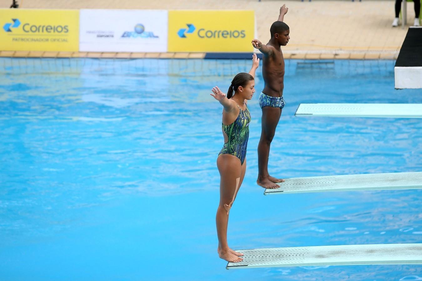 Trampolim sincronizado. Trofeu Brasil de Saltos Ornamentais. 18 de maio de 2017, Rio de Janeiro, RJ. Foto: Satiro Sodré/SSPress/CBDA