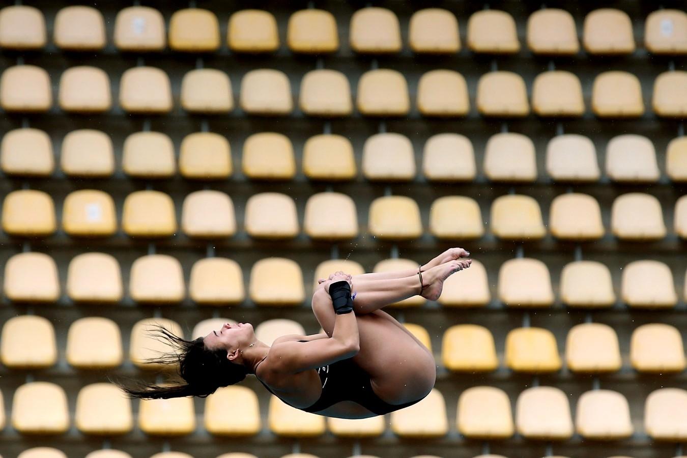 Plataforma. Trofeu Brasil de Saltos Ornamentais. 18 de maio de 2017, Rio de Janeiro, RJ. Foto: Satiro Sodré/SSPress/CBDA