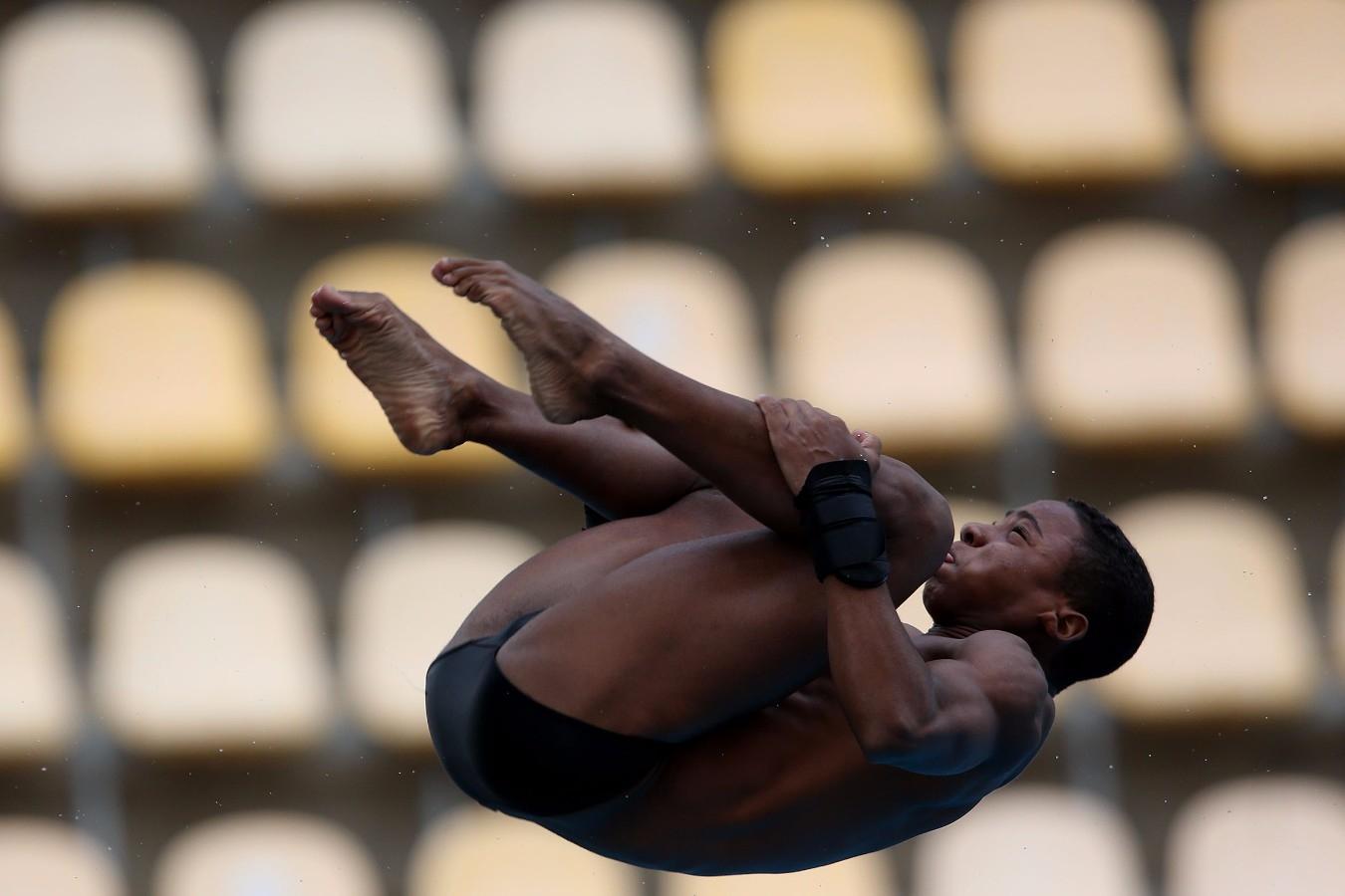 Plataforma. Trofeu Brasil de Saltos Ornamentais. 20 de maio de 2017, Rio de Janeiro, RJ. Foto: Satiro Sodré/SSPress/CBDA