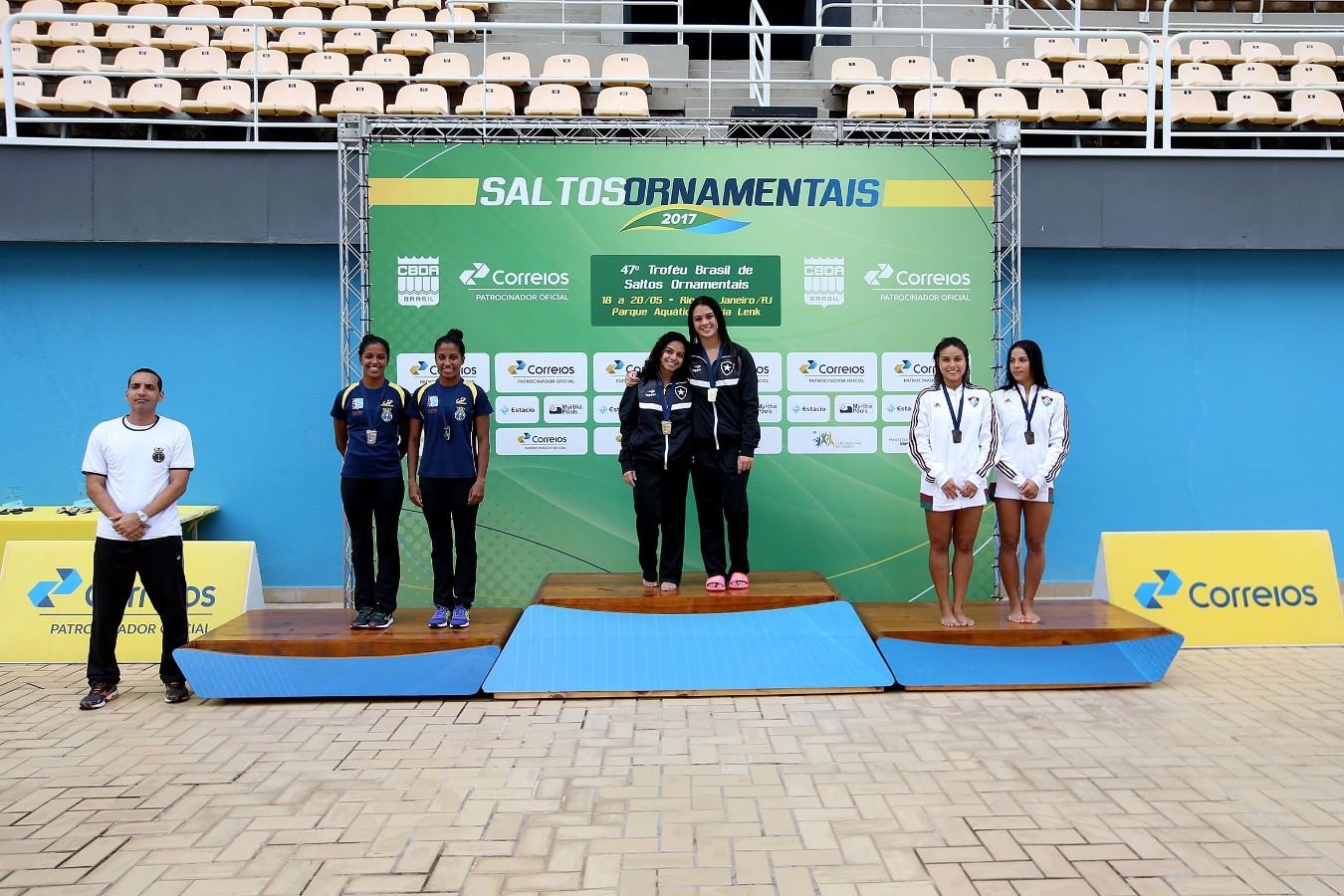 Plataforma Sincronizada. Trofeu Brasil de Saltos Ornamentais. 20 de maio de 2017, Rio de Janeiro, RJ. Foto: Satiro Sodré/SSPress/CBDA