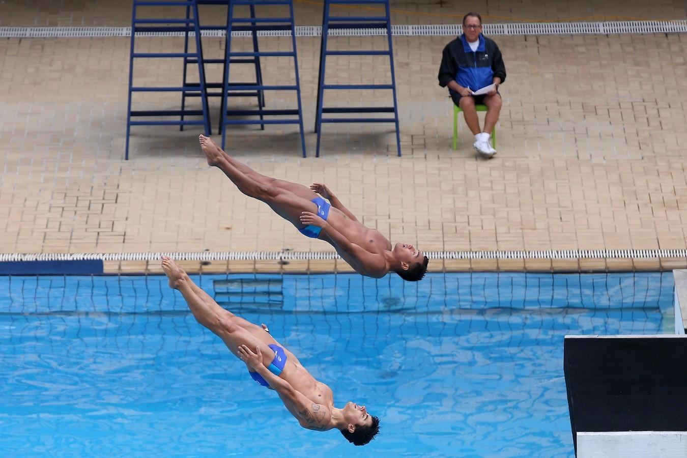 Trampolim sincronizado. Trofeu Brasil de Saltos Ornamentais. 20 de maio de 2017, Rio de Janeiro, RJ. Foto: Satiro Sodré/SSPress/CBDA