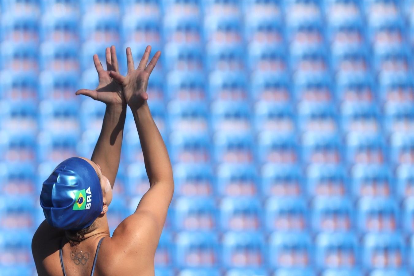 Maria Clara Coutinho. Selecao Brasileira de Nado Sincronizado. Campeonato Mundial de Desportos Aquaticos. City Park - Varosliget Lake . 13 de Julho de 2017, Hungria, Budapeste. Foto: Satiro Sodré/SSPress/CBDA
