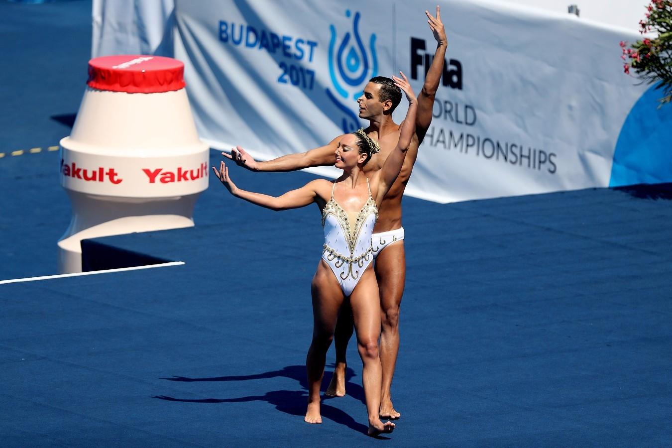 Giovana Stephan, Renan Alcantara. Campeonato Mundial de Desportos Aquaticos. City Park. 17 de Julho de 2017, Budapeste, Hungria. Foto: Satiro Sodré/SSPress/CBDA