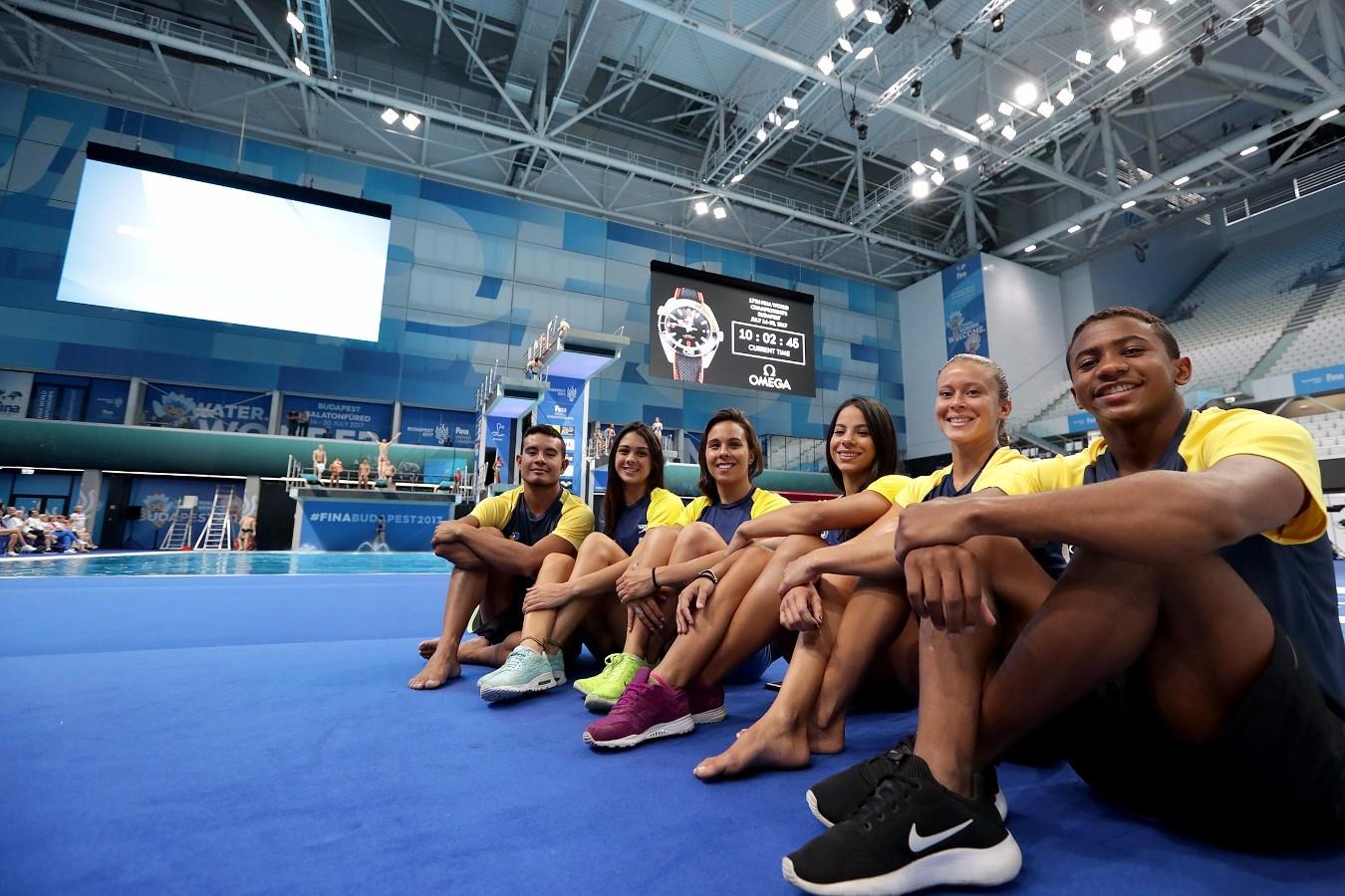 Selecao Brasileira de Saltos Ornamentais. Campeonato Mundial de Desportos Aquaticos. Duna Arena. 12 de Julho de 2017, Hungria, Budapeste. Foto: Satiro Sodré/SSPress/CBDA