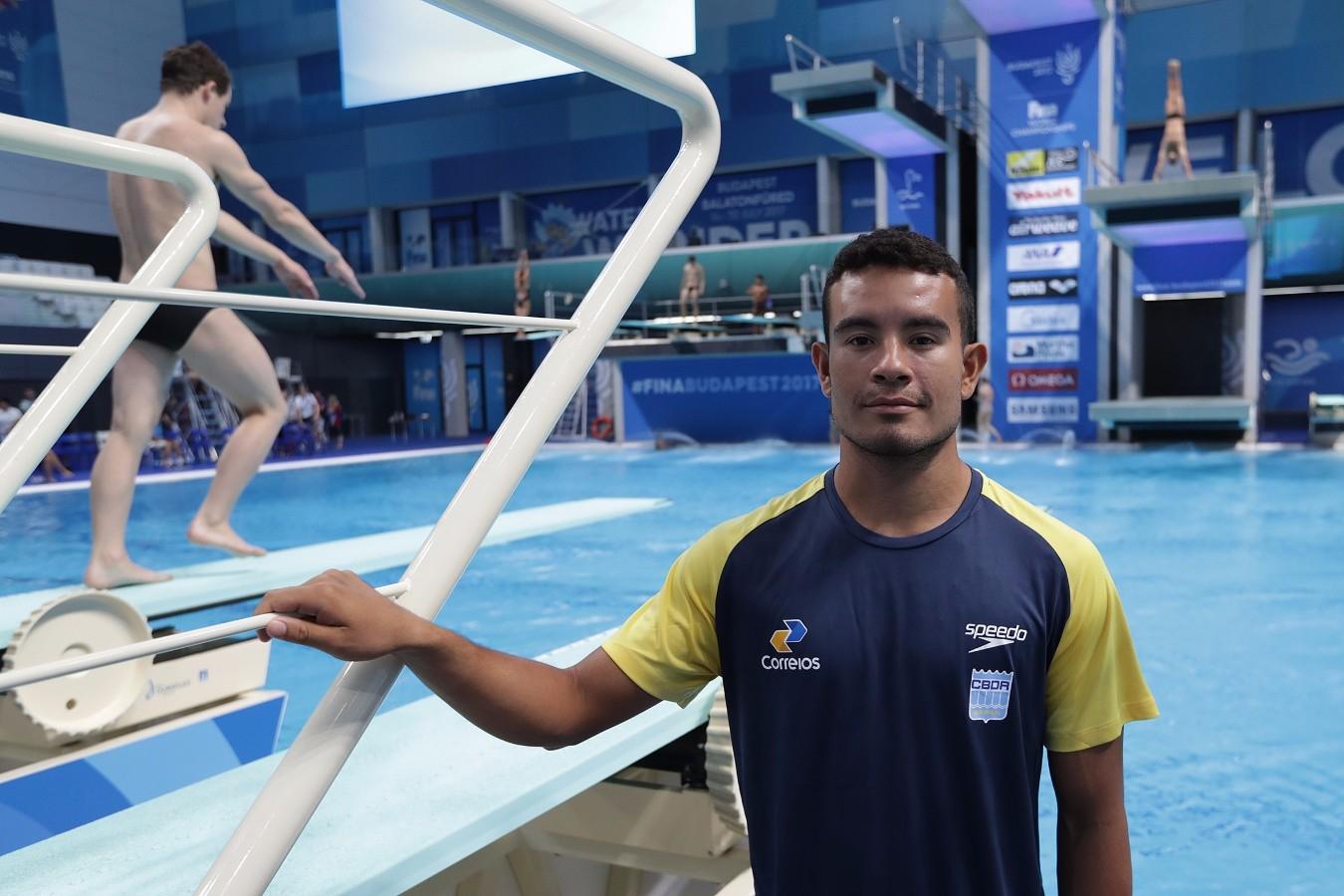 Ian Matos. Campeonato Mundial de Desportos Aquaticos. Duna Arena. 12 de Julho de 2017, Hungria, Budapeste. Foto: Satiro Sodré/SSPress/CBDA