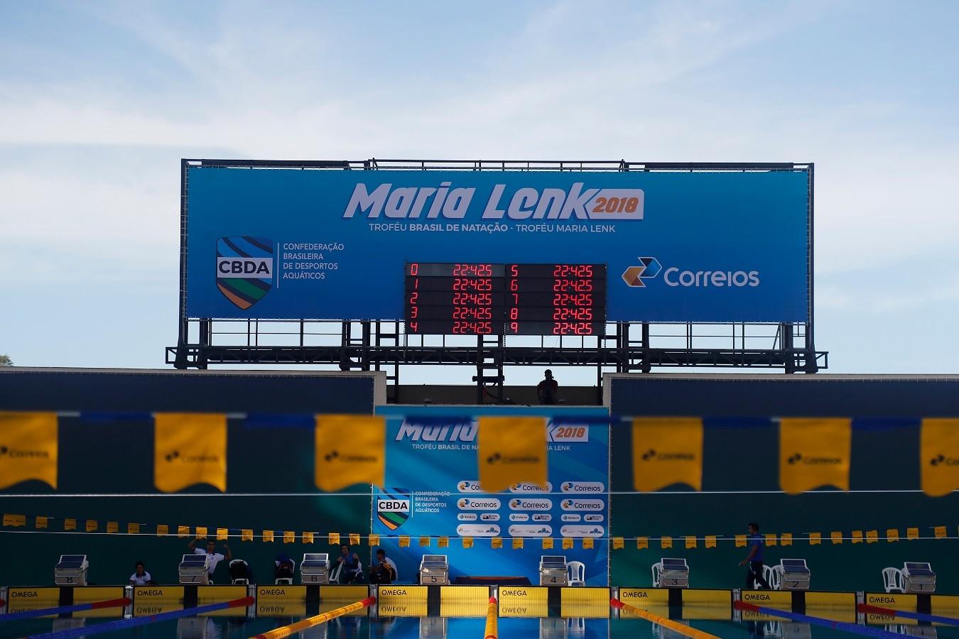 Troféu Brasil de Natacao no Parque Aquatico Maria Lenk. 17 de Abril de 2018. Rio de Janeiro, RJ, Brasil. Foto: Satiro Sodré/SSPress/CBDA