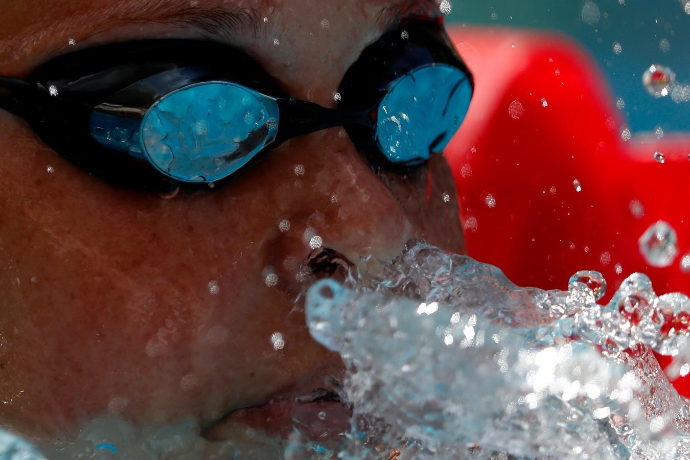 Sharon Van. Trofeu Brasil de Natatacao no Parque Aquatico Maria Lenk. 17 de Abril de 2018, Rio de Janeiro, RJ, Brasil. Foto: Satiro Sodré/SSPress/CBDA