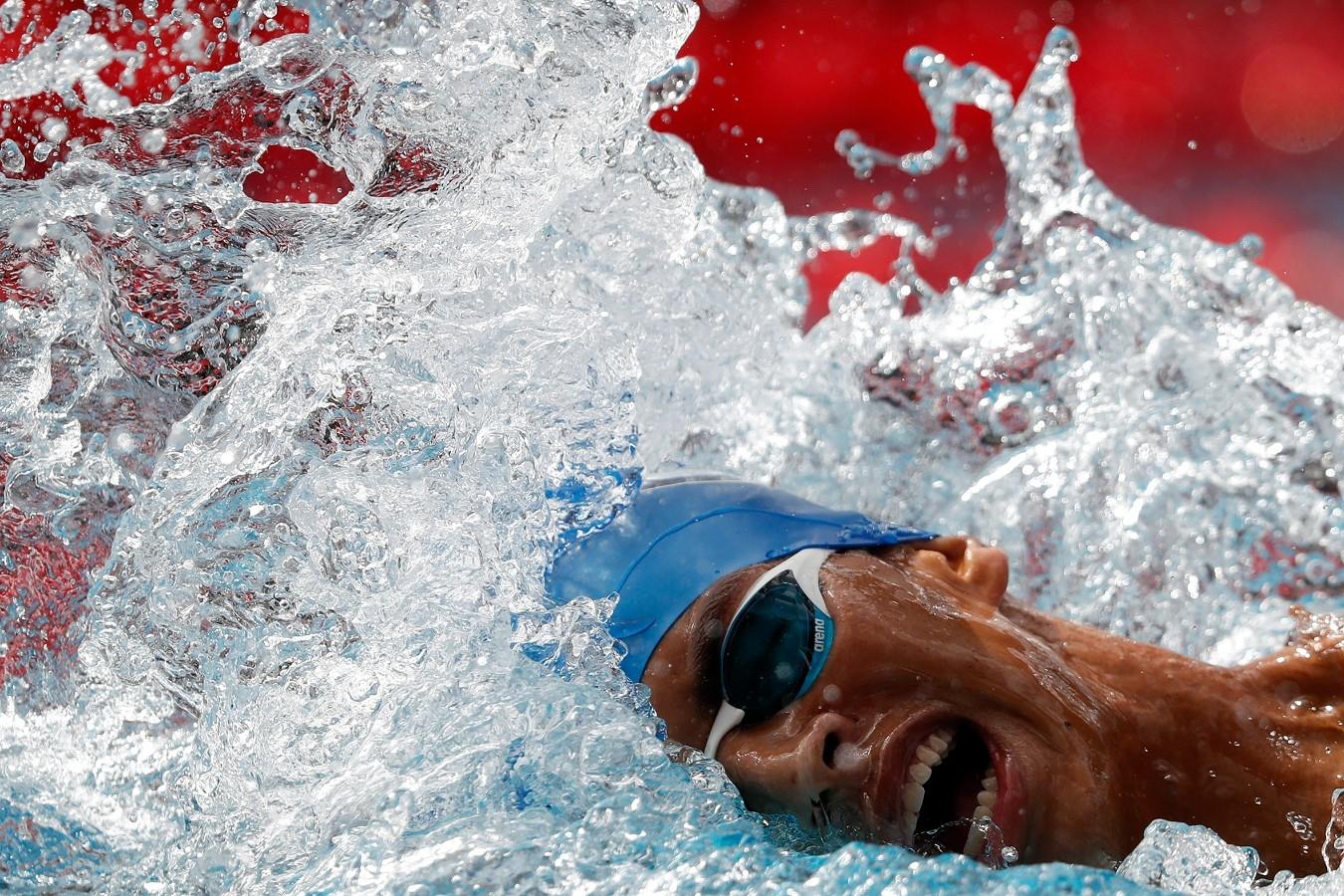 Guilherme Costa. Troféu Brasil de Natacao no Parque Aquatico Maria Lenk. 17 de Abril de 2018. Rio de Janeiro, RJ, Brasil. Foto: Satiro Sodré/SSPress/CBDA