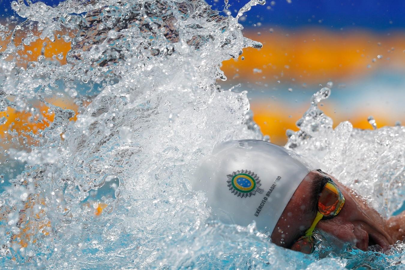 Luiz Altamir. Troféu Brasil de Natacao no Parque Aquatico Maria Lenk. 17 de Abril de 2018. Rio de Janeiro, RJ, Brasil. Foto: Satiro Sodré/SSPress/CBDA