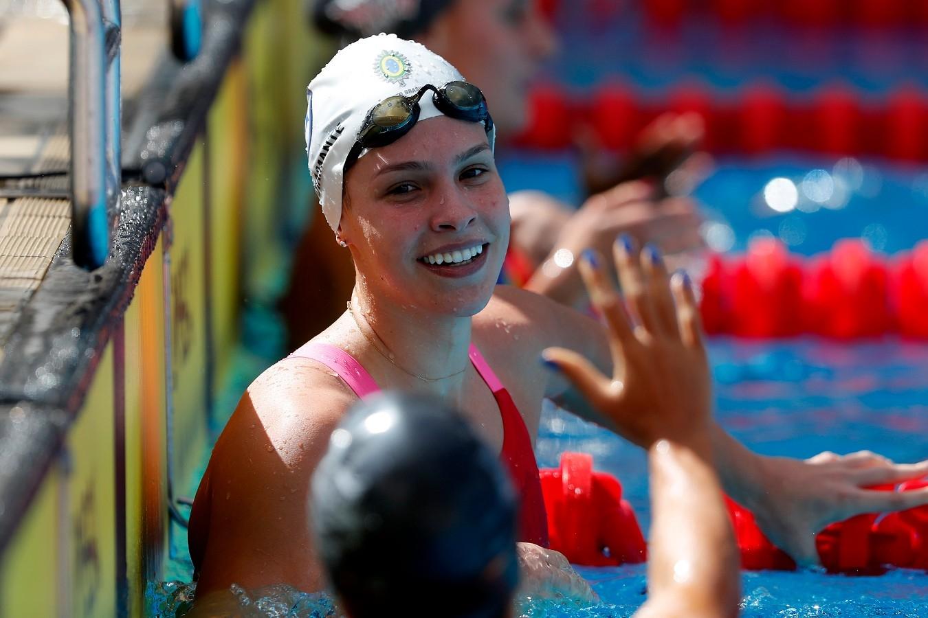 Giovanna Diamante. Troféu Brasil de Natacao no Parque Aquatico Maria Lenk. 17 de Abril de 2018. Rio de Janeiro, RJ, Brasil. Foto: Satiro Sodré/SSPress/CBDA