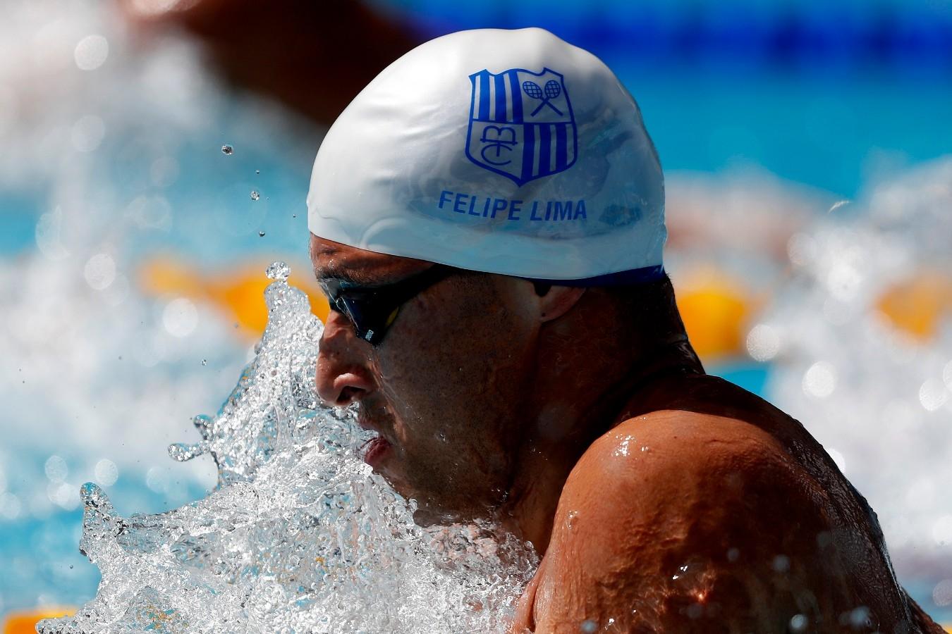 Felipe Lima. Troféu Brasil de Natacao no Parque Aquatico Maria Lenk. 17 de Abril de 2018. Rio de Janeiro, RJ, Brasil. Foto: Satiro Sodré/SSPress/CBDA