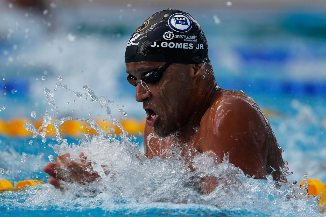Joao Gomes jr. Troféu Brasil de Natacao no Parque Aquatico Maria Lenk. 17 de Abril de 2018. Rio de Janeiro, RJ, Brasil. Foto: Satiro Sodré/SSPress/CBDA