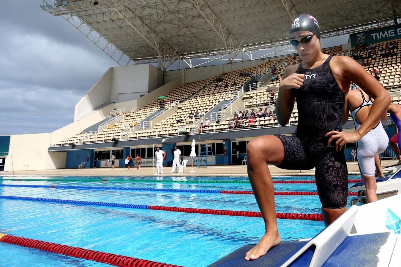 Trofeu Maria Lenk de Natacao. Parque Aquatica Maria Lenk. 17 de abril de 2019, Rio de Janeiro, RJ Brasil. Foto: Matheus Paiva/SSPress/CBDA.