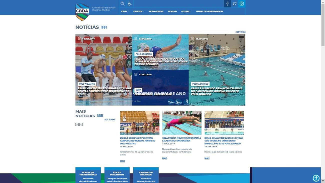 Com mais interatividade e layout para mobile, CBDA inaugura novo site