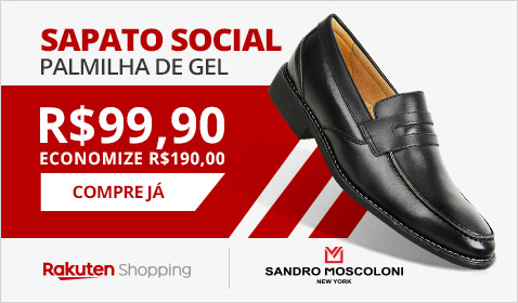 Sapato Social Palmilha de Gel R$ 99,90 economize R$ 190,00. Compre já.